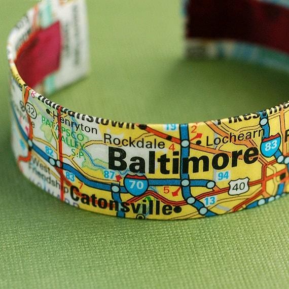 Baltimore cuff bracelet on etsy