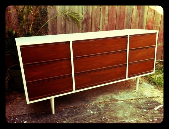 Refinished Mid-Century Retro Dresser- SOLD