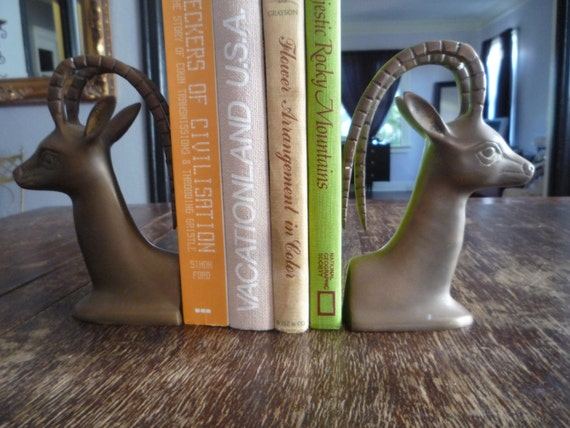 Cool Vintage Brass Bookends