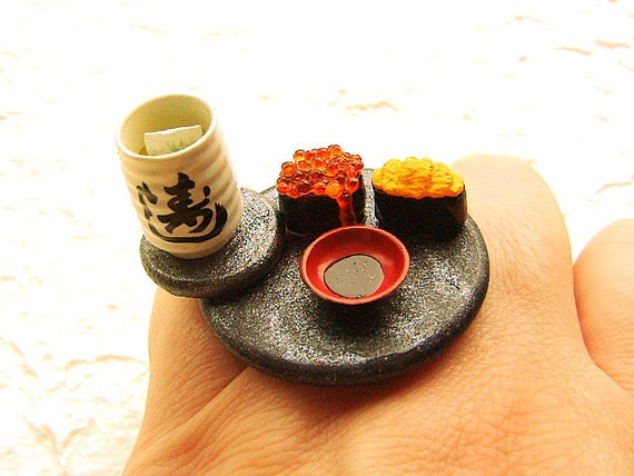 Суши кольцо продовольственной Зеленый чай
