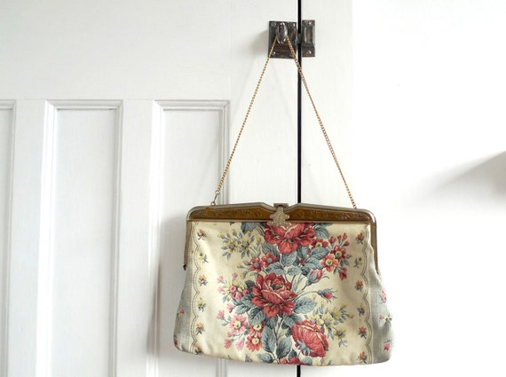 Vintage Embroidered Floral Bag