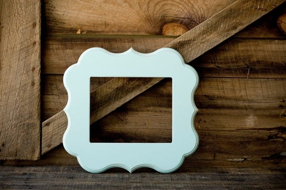 "16x16 whimsical and unique picture frame in the ""ALY"" style only"
