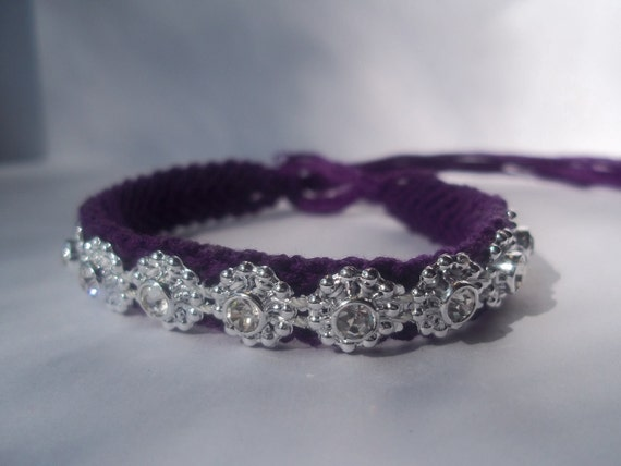 purple and jewel friendship bracelet