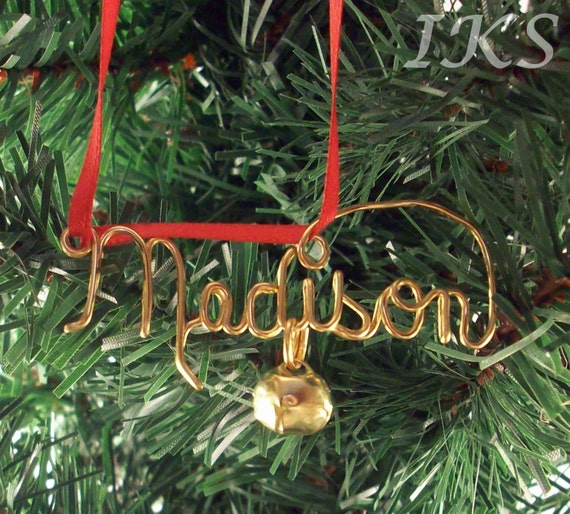 TWO (2) Personalized Ornaments