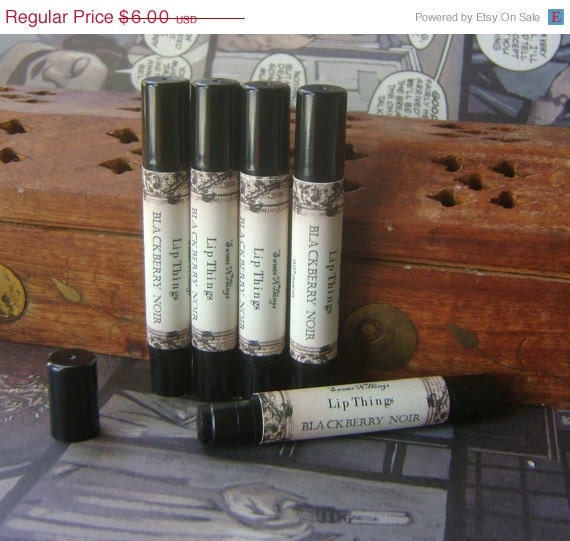 ON SALE Black Lip Tint, Blackberry Noir, All Natural