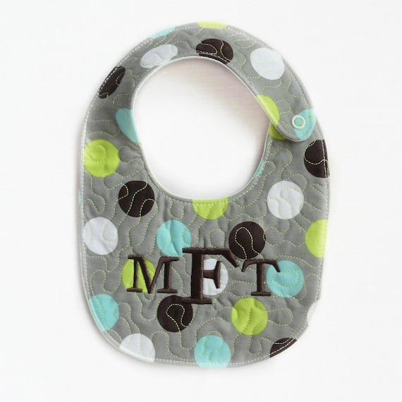 Like It A Dot quilted baby bib