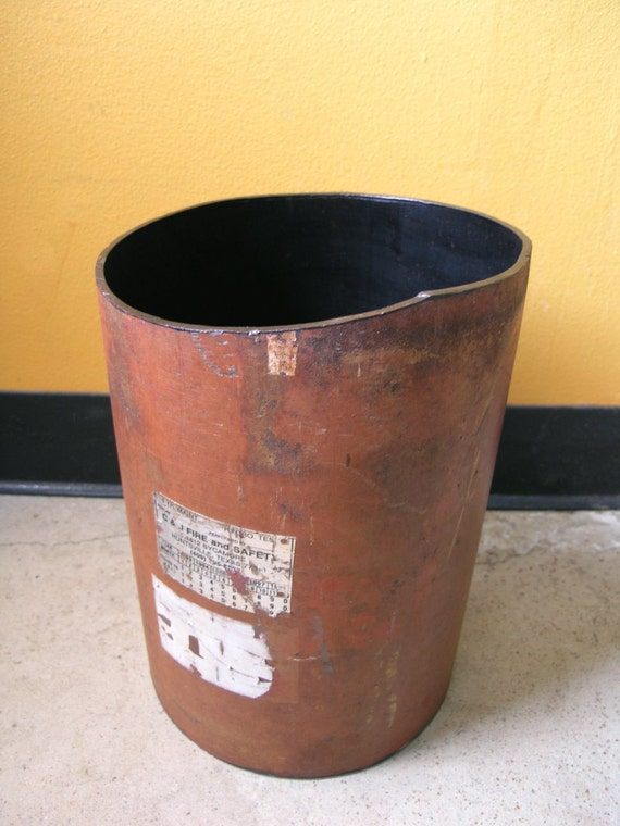 Steampunk Metal Pipe Trash Basket