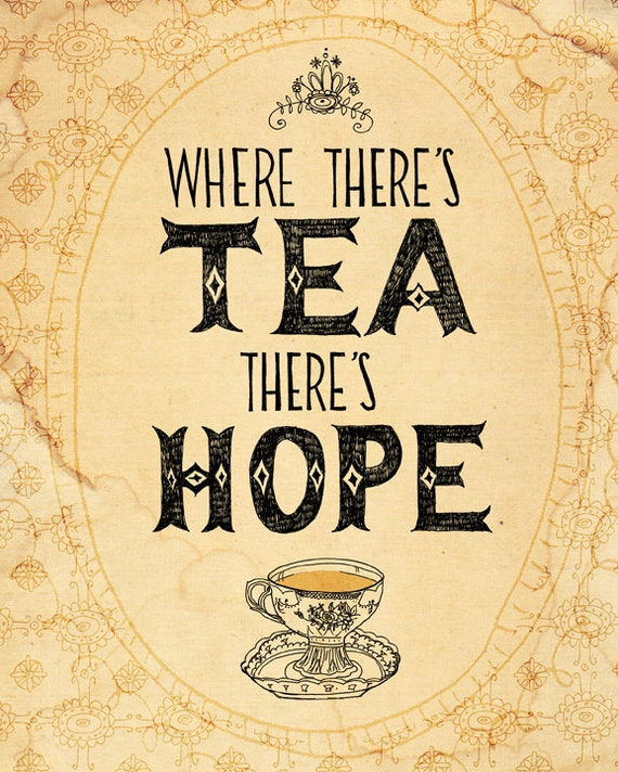 tea and hope 5x7 archival art print