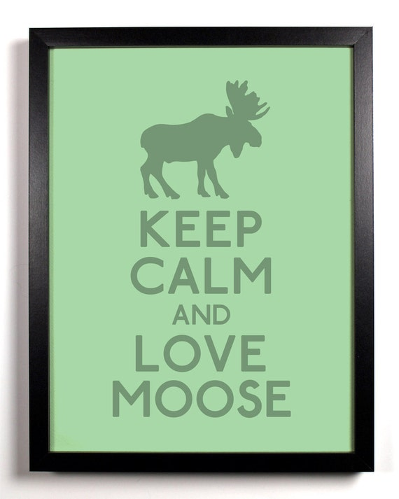 Keep calm and love moose