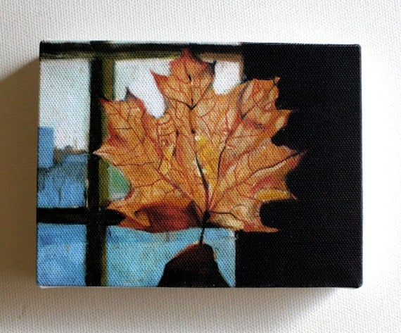 Leaf/ Tiny canvas print