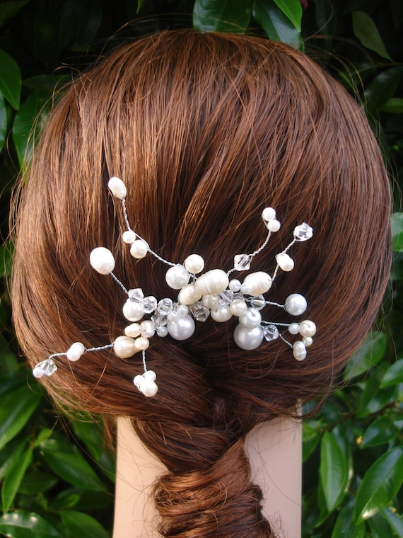 Bridal Pearl hair comb - Bridal Collection Style 023