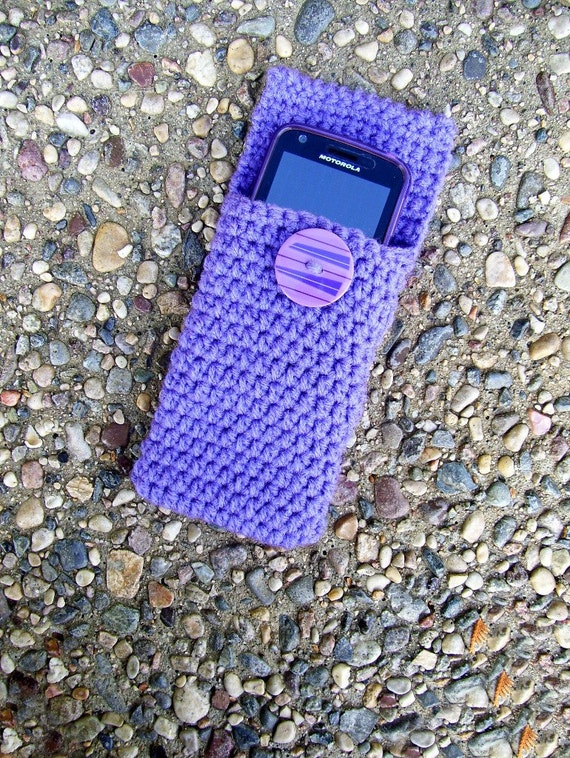 Crocheted Mp3, Iphone, Case Pouch Cozy