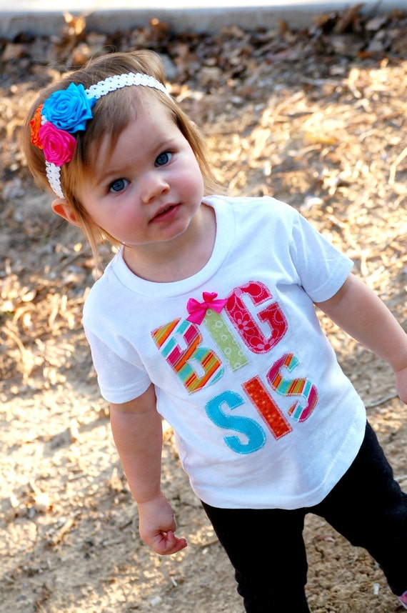Big sis and lil sis shirts for girls - baby, toddler, matching sibling shirts