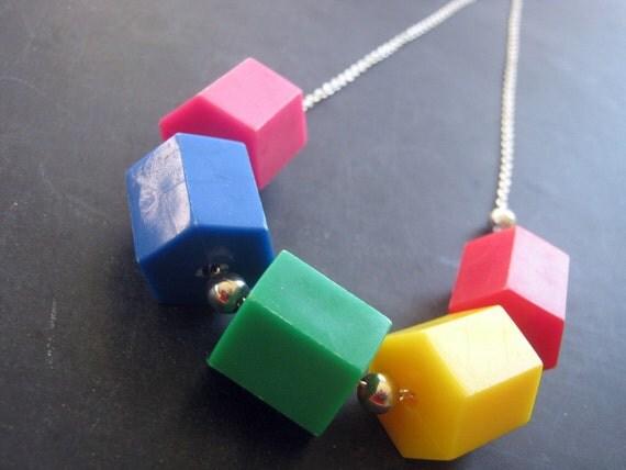 Beaded Necklace -- Rainbow Brite -- Jewellery
