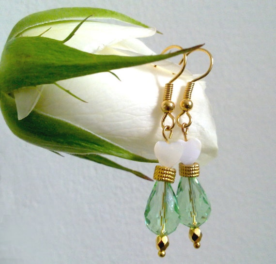 Secret Garden Earrings - beaded whimsical earrings - romantic - feminine - everyday