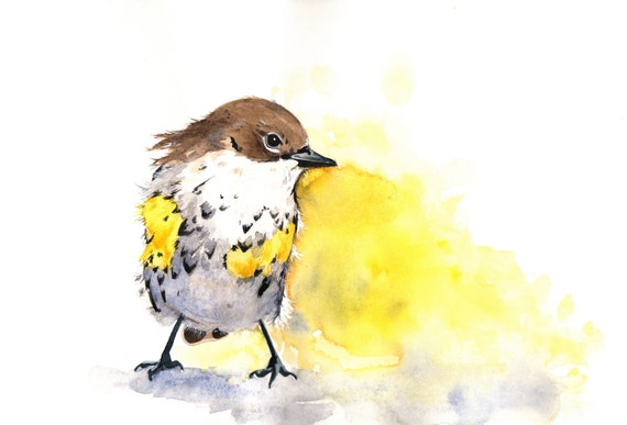 Bird Watercolor  - Archival Print of watercolor painting