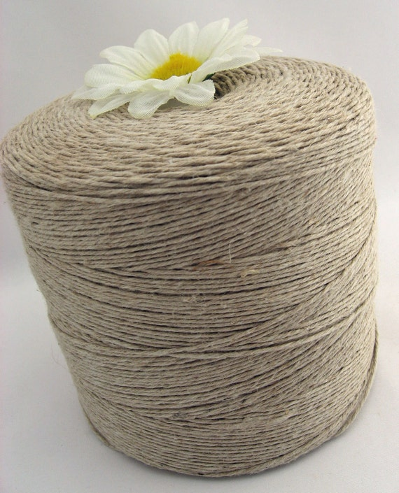 Hemp Twine Wholesale Bulk Hemp Yarn Cone Natural Fair Trade Organic Vegan Yarn DK Fingering