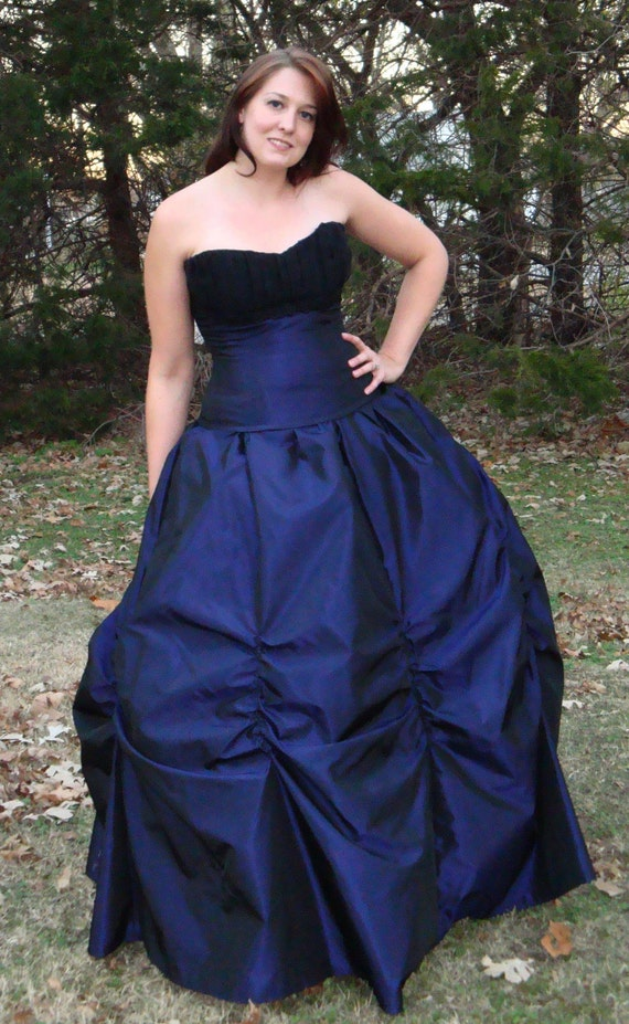 Victorian Gothic Masquerade ball gown skirt ruched