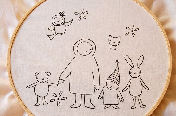 Meet the Gang Embroidery stitching PATTERN