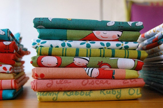 Meet the Gang FABRIC BUNDLE citrus/melon
