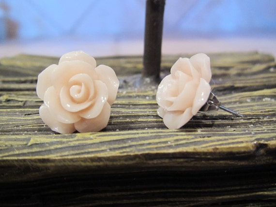 Romanced Rose - Post Stud Earrings