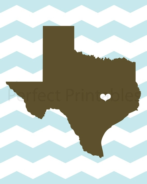 I Love Texas Printable