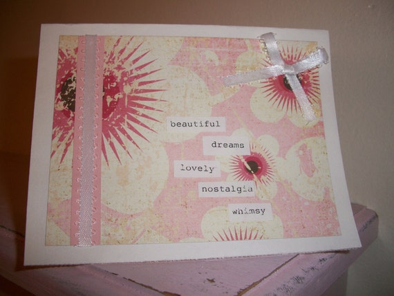 Dreamy Pink Bow card