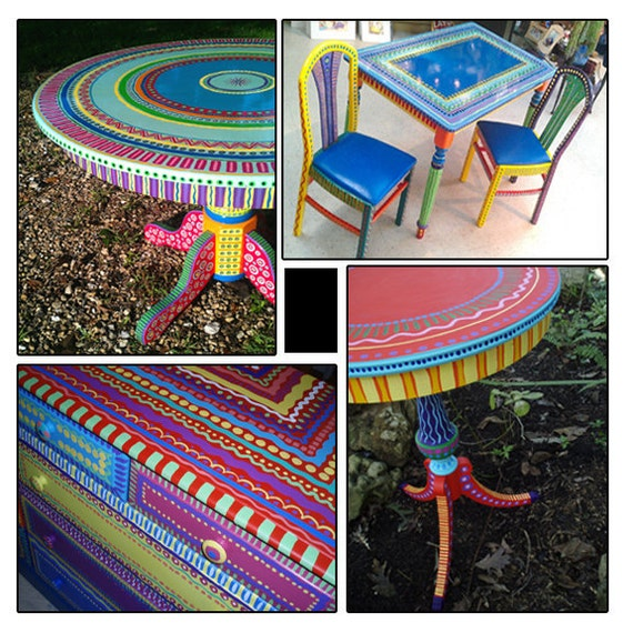 Hand Painted Furniture- Wild and Crazy Custom Made For You