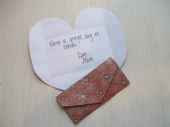 Love Note Lunchbox Note Small Envelope Set of 6