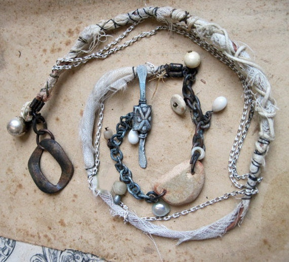 Ghostly Rustic Specter Chic. Custom Necklace for sharjah.
