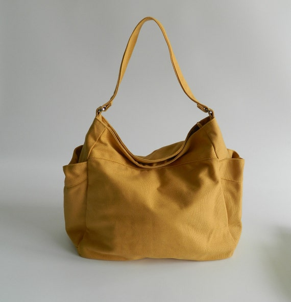 S A L E // 10% OFF // EXPRESS SHIPPING //  Renee in Mustard - Tote/ shoulder bag