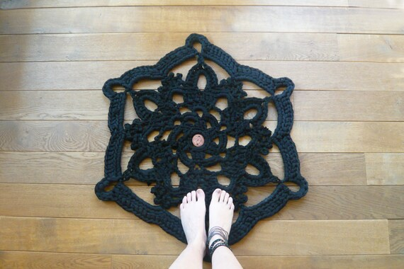 doily bath rug black, Reserved for store, Dubai