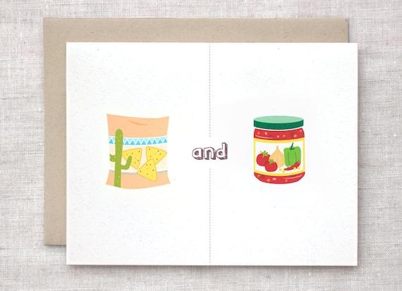 Anniversary Card - Chips and Dip, Salsa, Nachos, Mexican, Football