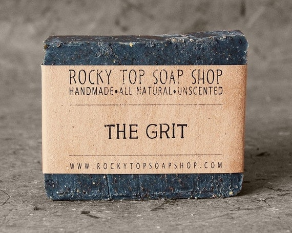 The Grit - Scrub Soap, Exfoliating Soap Bar, Hand Soap, Cold Process Soap with Activated Charcoal