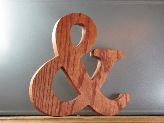 Wooden Ampersand 9 inch