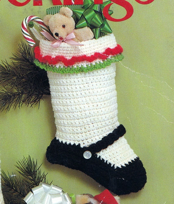 Crocheted Christmas Stocking Pattern Patterns Gallery