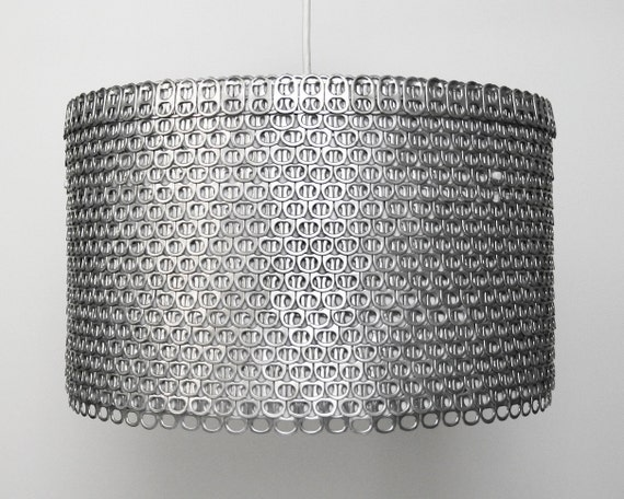 Soda Can Tab Drum Shade - Large Eco-Friendly Pendant Light - Shade ONLY