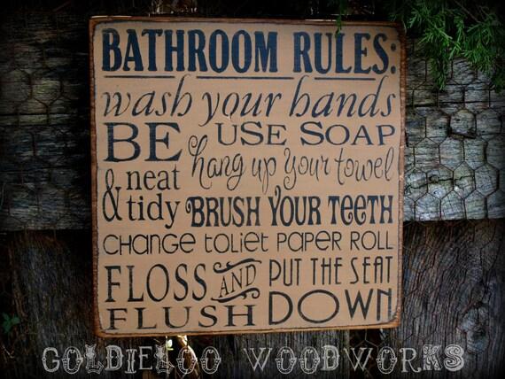 Bathroom Signs Ideas bathroom sign ideas - diy at modestly handmade