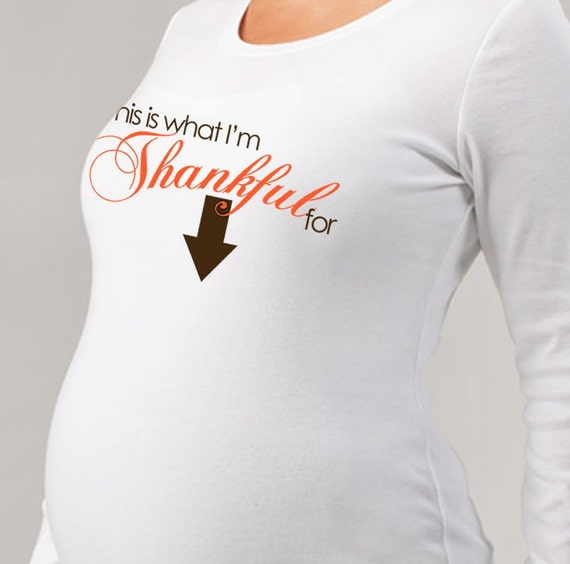 thanksgiving maternity shirt-adorable Maternity longsleeve shirt in time for thanksgiving READY TO SHIP