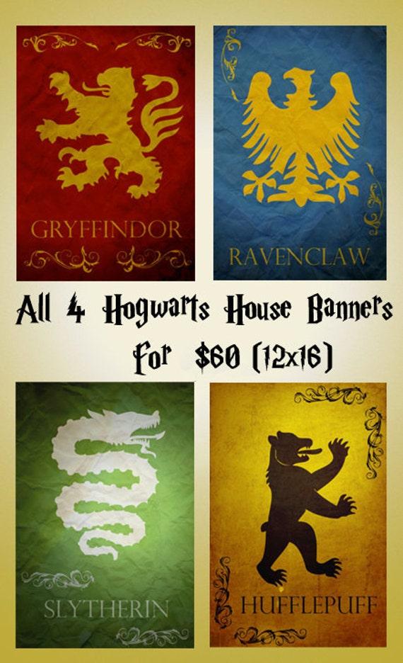 Google Image Result For Http Img1 Etsystatic Com Il 570xn 283779185 Jpg Harry Potter Poster Harry Potter Hogwarts Houses Harry Potter Nursery