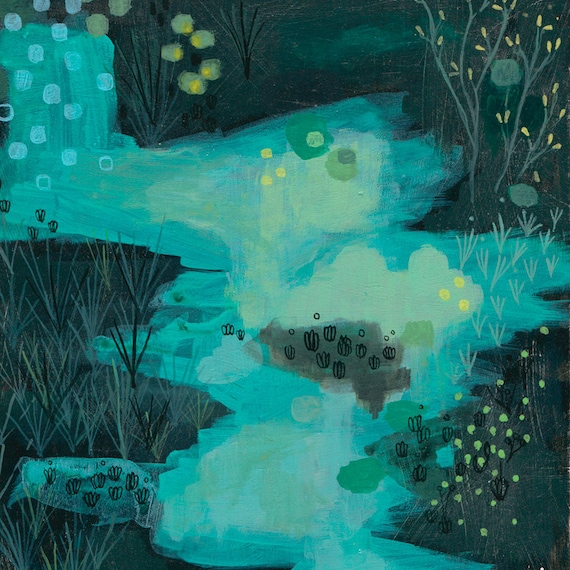 archival fine art giclee print . night vision