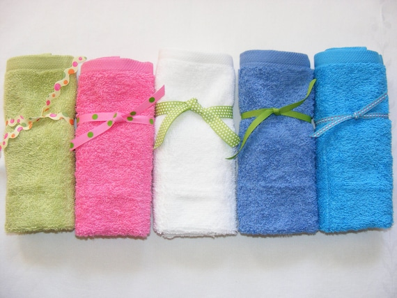 Terrycloth Toothbrush and Paste Travel Pouch in Bright Pink...popular little gift....free shipping