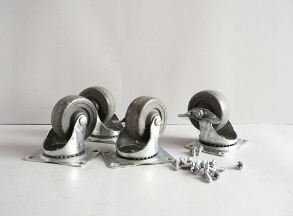 Industrial Metal Caster Wheels, Screw On