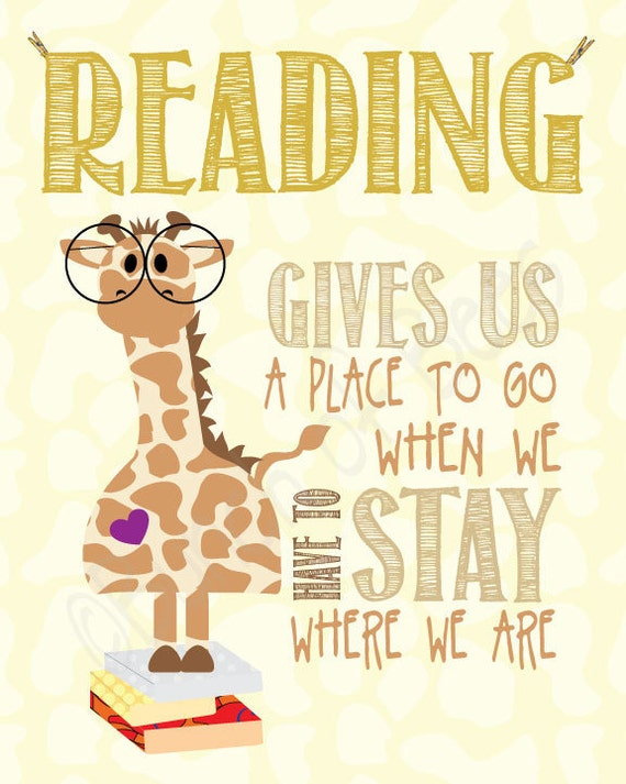 Bookish Gift Idea #3: Posters to encourage reading (for kids)