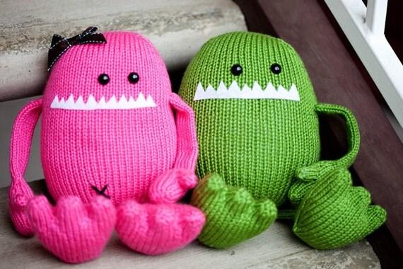 Harold the Amigurumi Stuffed Animal Monster Toy