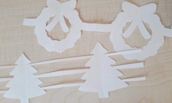 Christmas Paper Garlands PDFs Set of 2 - DIY Printable Party Decorations & Fun Christmas Craft