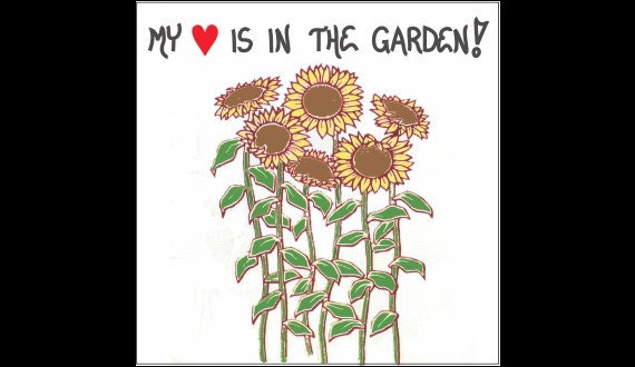 Gardening Magnet - My Heart is in the Garden