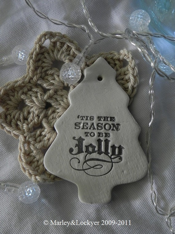 Clay Tree Tag- 'Tis The Season