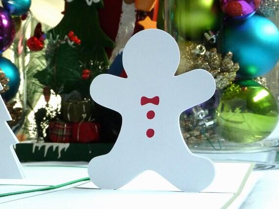 Gingerbread Man Pop Up Greeting Card