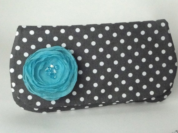 Bridesmaids gift idea, purse, clutch, gray, pool, mermaid and white wedding